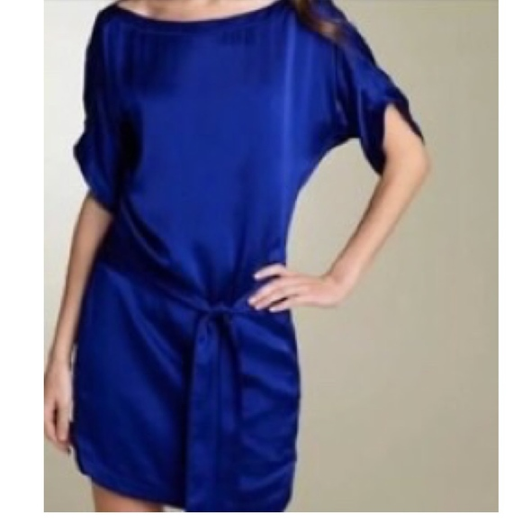 Diane Von Furstenberg Dresses & Skirts - Diane Von Furstenberg Blue Silk Dress